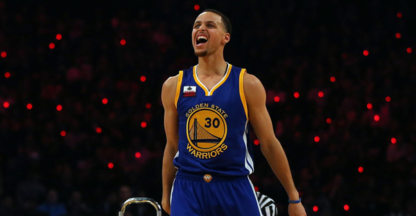 Stephen Curry  30 of the Golden State Warriors and of the Western  Conference reacts during 5ab61b351