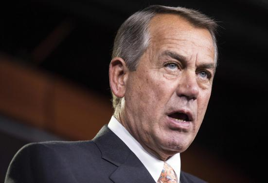 Speaker of the House John Boehner (R-OH) arrives to speak at a news conference
