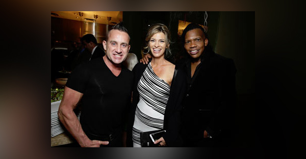 (L-R) Newsboys' Duncan Phillips, actress Tracy Melchior (Grace), and Newsboys' Michael Tait at the premiere. (Le Studio Photography)