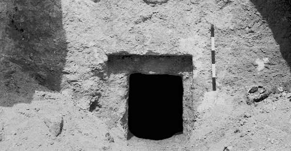This photo provided by the Israeli Antiquities Authority (IAA) shows the facade of the so-called 'Talpiot Tomb', where some believe Jesus of Nazareth and his family were buried.