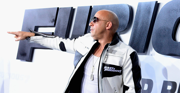 """Actor Vin Diesel arrives at the Premiere of Universal Pictures' """"Furious 7"""" at TCL Chinese Theatre on  April 1, 2015 in Hollywood, California. (Frazer Harrison/Getty Images North America)"""