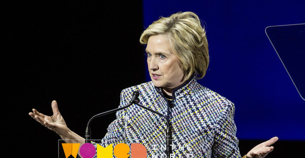 Democratic presidential hopeful and former Secretary of State Hillary Clinton addresses the Women in the World Conference on April 23, 2015 in New York City. (Andrew Burton/Getty Images North America)