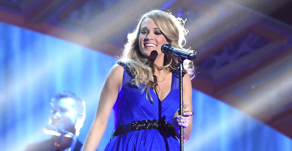 """Carrie Underwood's spiritual """"Something in the Water"""" became a Number One hit on the country and Christian charts. (Jason Merritt/Getty Images)"""
