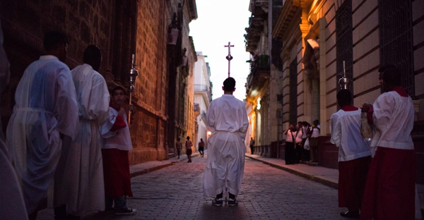Thousands of Roman Catholics in Cuba marked the end of Holy Week by holding religious processions fully sanctioned by the government. (Sarah L. Voisin/The Washington Post)