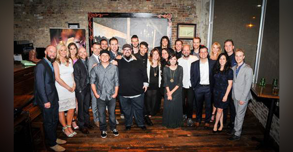 for KING & COUNTRY's Joel and Luke Smallbone; Francesca Battistelli; Big Daddy Weave's Mike Weaver, Jeremy Redmon, Brian Beihl, and Joe Shirk; along with Word Entertainment President & CEO Rod Riley, Word Entertainment SVP A&R Josh Bailey, and Word Entertainment VP National Promotion Andrea Kleid and team at the K-LOVE Fan Awards after party on Sunday, May 31, 2015.