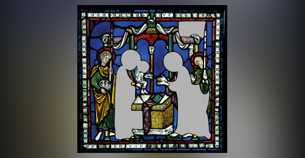 Above: Stained glass from Canterbury Cathedral was defaced in 1643. (© Dean and Chapter of Canterbury Cathedral)
