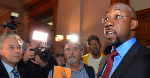 Rep. Raphael Warnock at the state Capitol in March. (Kent D. Johnson, kdjohnson@ajc.com)