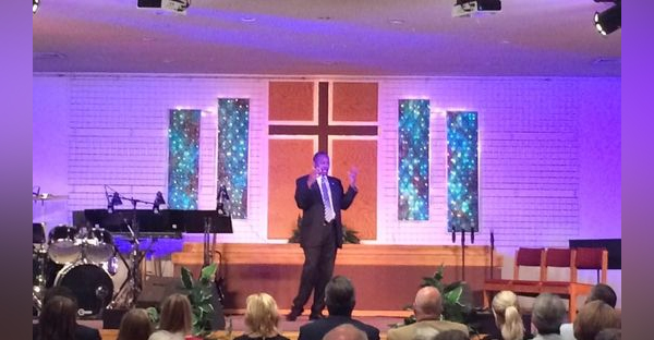 Ben Carson shared his testimony during two church services at LifePoint Assembly of God in Osceola Sunday morning. (Timothy Meinch/The Register)