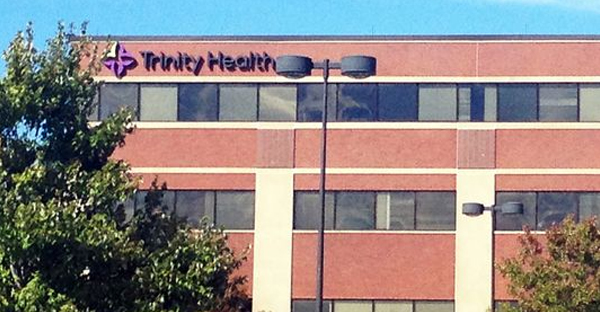 The American Civil Liberties Union is suing Trinity Health Corporation in Livonia, Mich., whose headquarters is shown here, alleging that the Catholic health system put women in danger by failing to perform emergency abortions. (Photo: Brooke Tucker)