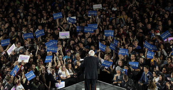 Democratic presidential candidate Sen. Bernie Sanders (I-VT) speaks during a campaign rally at University of Iowa January 30, 2016 in Iowa City, Iowa. Sanders continued to seek for support for the Democratic nomination prior to the Iowa caucus on February 1. (Alex Wong/Getty Images North America)