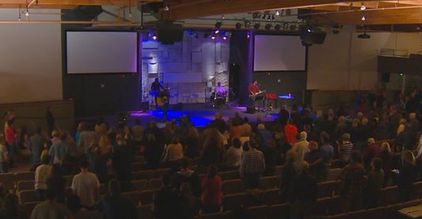 Calvary Chapel celebrates Saeed Abedini's release. (Photo: Mary Kienzle/KTVB)
