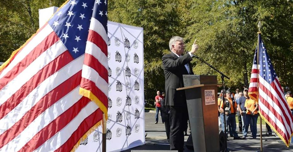 """Franklin Graham, here speaking in Charlotte last year, will hold prayer rallies at all 50 state capitals in 2016. His theme: """"Pray. Vote, Engage."""" (Robert Lahser - rlahser@charlotteobserver.com)"""