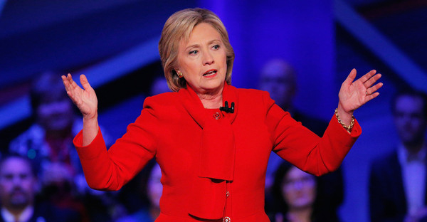 Democratic presidential candidate Hillary Clinton participates in a town hall forum hosted by CNN at Drake University on January 25, 2016 in Des Moines, Iowa. Clinton is in Iowa trying to gain support in front of the states Feb. 1 caucuses. (Justin Sullivan/Getty Images North America)