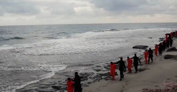 ISIS decapitated 21 Coptic Christians in a video filmed along a Libyan beach. (AP Photo)