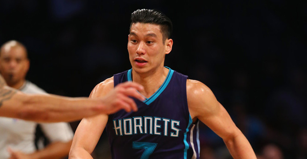 Jeremy Lin #7 of the Charlotte Hornets dribbles against the Brooklyn Nets during their game at the Barclays Center on February 21, 2016 in New York City. (Al Bello/Getty Images North America)