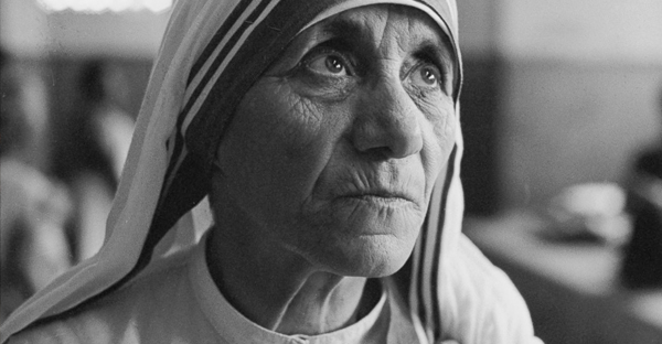 Mother Teresa at a hospice for the destitute and dying in Kolkata, India, 1969. (Terry Fincher/Getty Images)