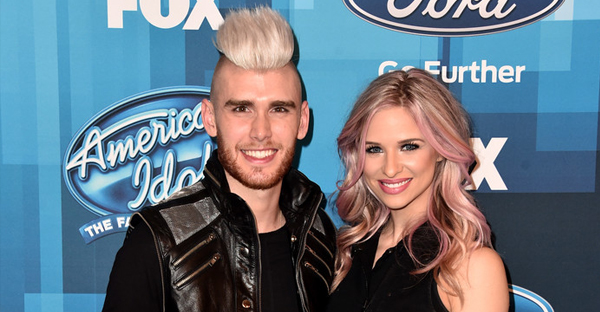 "Recording artists Colton Dixon (L) and Annie Coggeshall attend FOX's ""American Idol"" Finale For The Farewell Season at Dolby Theatre on April 7, 2016 in Hollywood, California. (Alberto E. Rodriguez/Getty Images North America)"