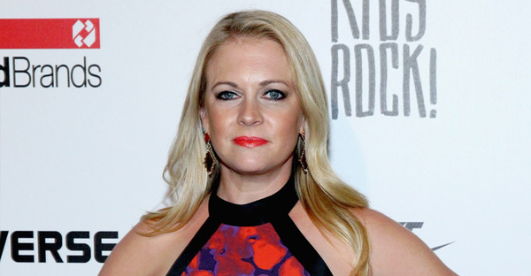 Melissa Joan Hart poses backstage at the Kids Rock! fashion show during Spring 2016 New York Fashion Week: The Shows at The Dock, Skylight at Moynihan Station on September 10, 2015 in New York City. (Astrid Stawiarz/Getty Images North America)
