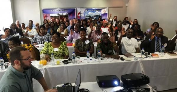 A scene from the 2016 pre-General Conference orientation for Africa Central Conference heads of delegations in Harare, Zimbabwe, Feb. 12-15. ( Photo by Greg Nelson, Oregon-Idaho Conference)