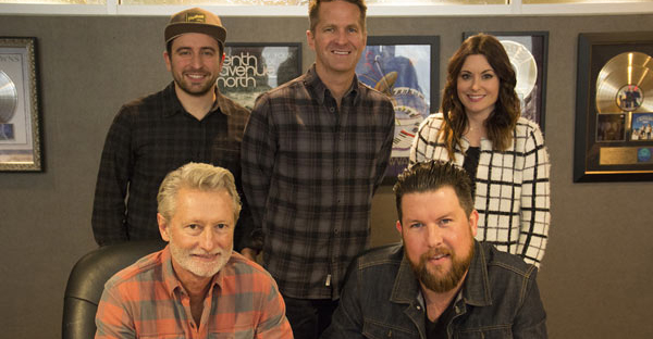 Photo ID - Top L to R: Jonathan Smith (Essential Music Publishing), Blaine Barcus (Vice President of A&R Provident Label Group), Karrie Dawley (Creative Director), Bottom L to R: Terry Hemmings (President/CEO Provident Music Group), Zach Williams
