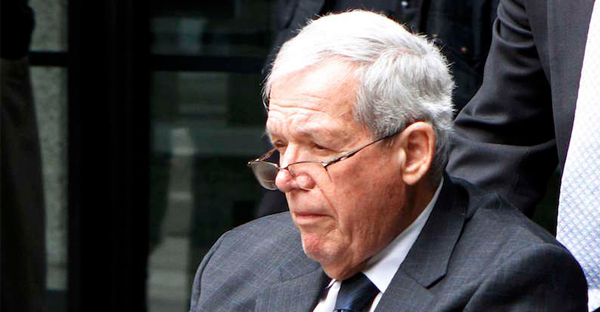 Former U.S. Speaker of the House Dennis Hastert leaves the Dirksen Federal courthouse after his sentencing hearing in Chicago, Illinois April 27, 2016. (Photo via REUTERS/Frank Polich)