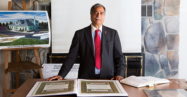 """""""I came to America almost 50 years ago with a firm belief in the values that America represents, including freedom of religion and equality before the law,"""" said Mohammad Ali Chaudry, the founding and current president of the Islamic Society of Basking Ridge. (Photo coutesy of the Becket Fund)"""