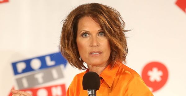 """""""I have such tremendous respect and admiration for this group and I look forward to continuing to talk about the issues important to Evangelicals, and all Americans, and the common sense solutions I will implement when I am President,"""" Donald Trump said of his list that included former Congresswoman Michele Bachmann. (Getty)"""