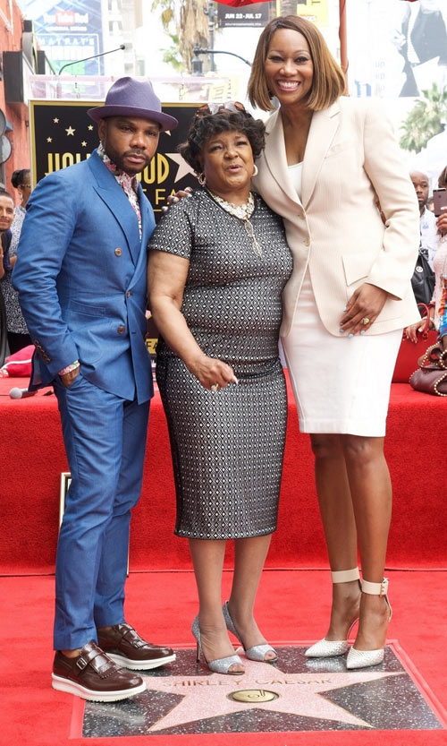Kirk Franklin, Shirley Caesar, Yolanda Adams Celebrate On Shirley Caesar's New Hollywood Walk Of Fame Star