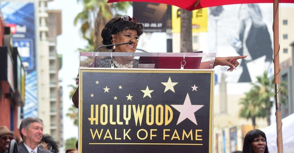 Gospel singer Shirley Caesar speaks at her Hollywood Walk of Fame Star ceremony on June 28, 2016 in Hollywood, California, where she was the recipient of the 2,583rd star in the category of Recording. Ceasar has performed for the late Nelson Mandela and every US President since Jimmy Carter. (AFP/Frederic J. BROWN)
