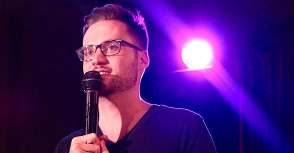 Christian comedian Jeremy McLellan has struck a chord with Muslims all over the world. His comedy has turned into an unlikely form of advocacy against Islamophobia, and he's become a staple at Muslim festivals around North America. (Tyler Sawyer)