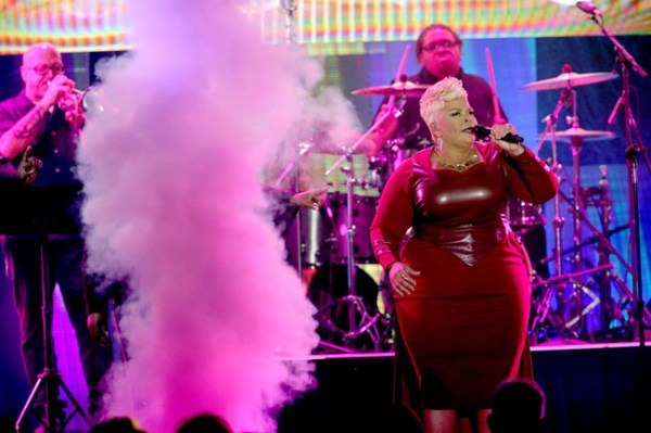 Tamela Mann performance (Photo credit: Terry Wyatt, Getty Images)