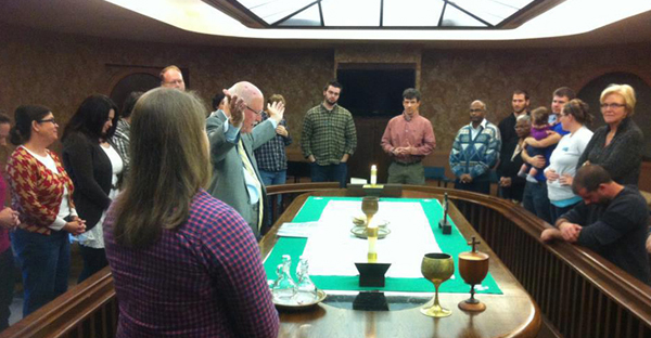 Election Day Communion service in 2012 at Asbury Theological Seminary in Wilmore, Ky. (Photo courtesy of Election Day Communion 2016)