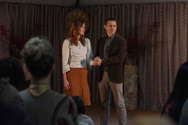 Michelle Monaghan and Hugh Dancy in The Path, Hulu's show about a cult called the Meyerists. (Hulu)