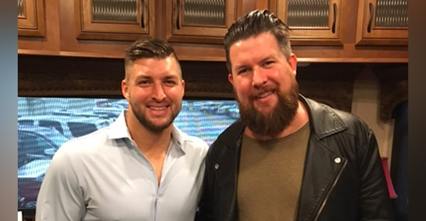 Tim Tebow and Zach Williams at Tebow's SHAKEN event