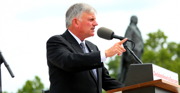 Franklin Graham is set to speak at a Christian festival in Vancouver next week, but his visit has been met with vocal opposition. (Facebook/Franklin Graham)