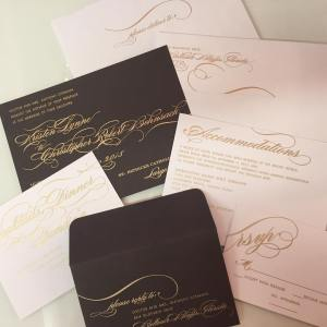 Foil Ink on a Fabulous Invitation Suite
