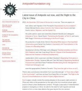 Antipode Blog 28112013