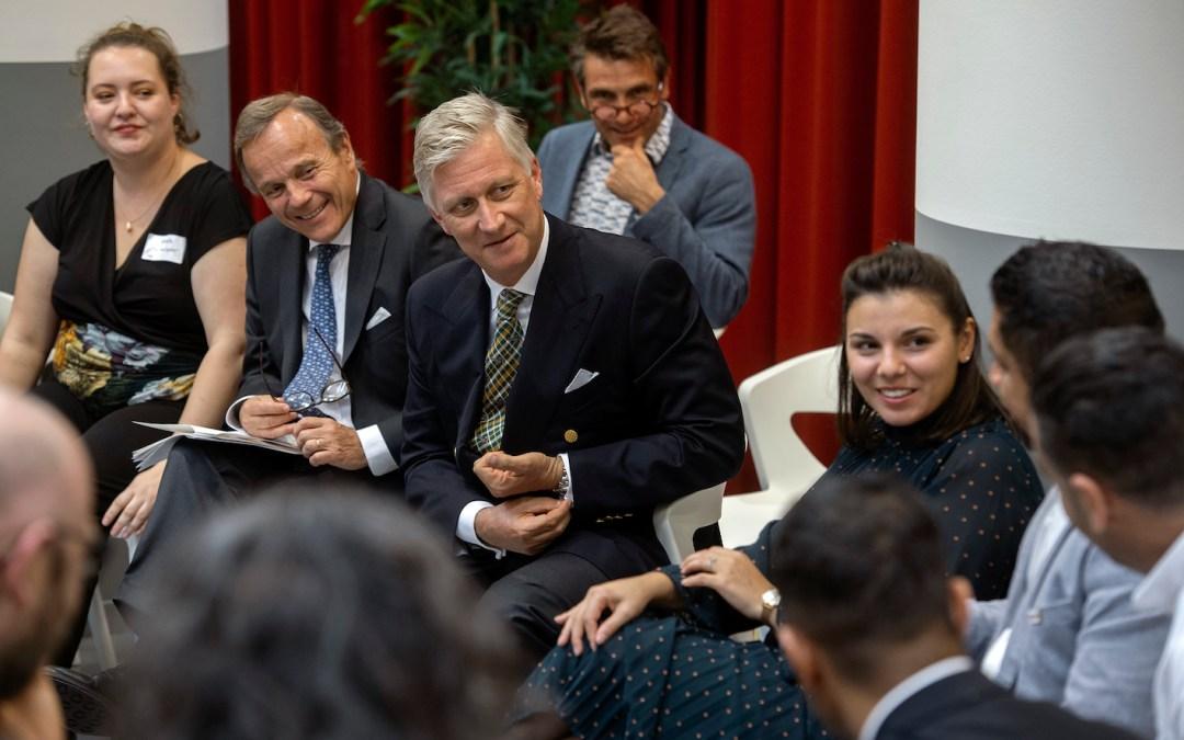 Koning Filip ontmoet laureaten IDCity