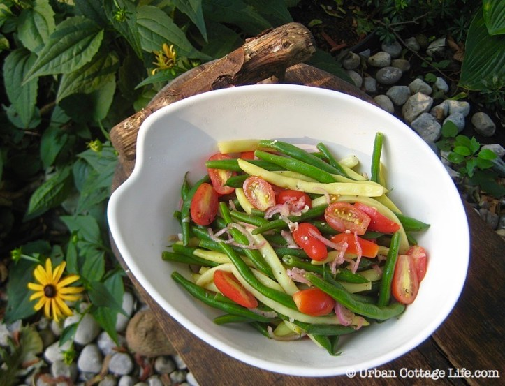 Green & Yellow Bean Salad ❘ © UrbanCottageLife.com