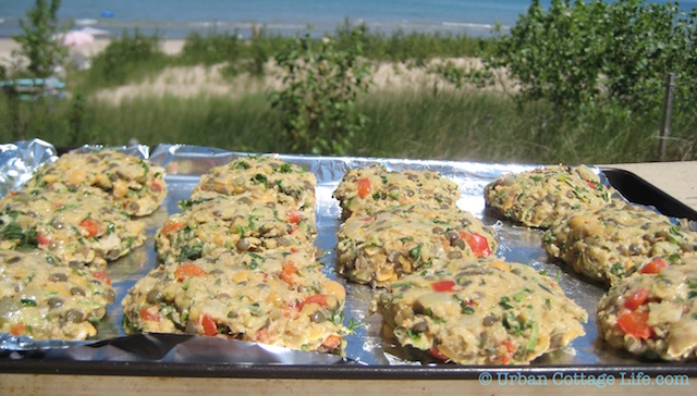 Lentil Cakes at the Beach  | ©  UrbanCottageLife.com