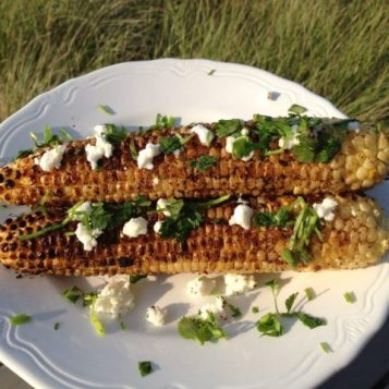 Grilled Spicy Corn with Feta   © UrbanCottageLife.com