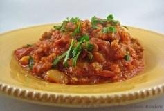 Spicy Sausage & Tomato Sauce | © Life Through the Kitchen Window.com
