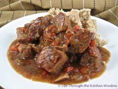 Italian Pork Stew with White Bean Mash | © Life Through the Kitchen Window.com