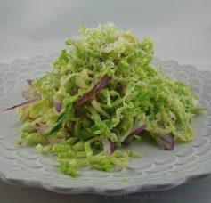 Brussels Sprouts Salad ❘ © UrbanCottageLife.com