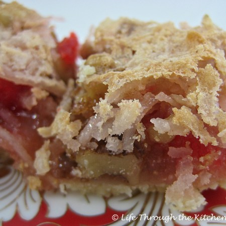 Cherry Coconut Bars | © Life Through the Kitchen Window