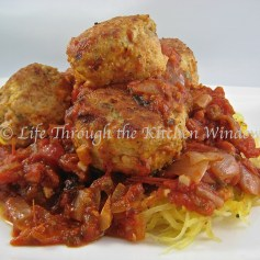 Spaghetti Squash & Meatballs | © Life Through the Kitchen Window.com
