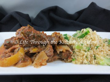 MIddle Eastern-Inspired Beef Stew & Cucumber MInt Couscous © Life Through the Kitchen Window