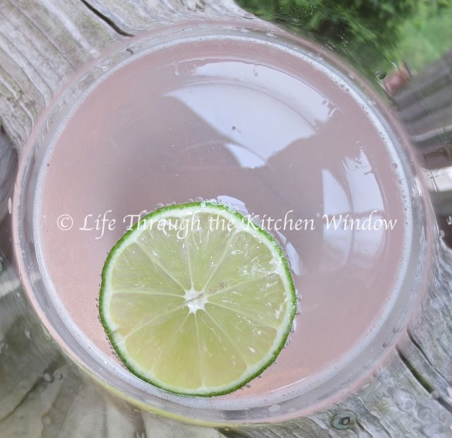 Rhubarb & Lime Gin Fizz | © Life Through the Kitchen Window