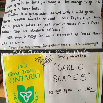 Garlic Scapes Farm Market Sign ⎮ © Life Through the Kitchen Window