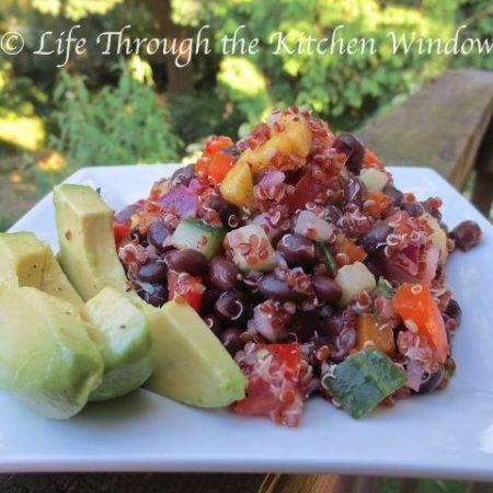 Red Quinoa & Black Bean Salad with Mango   © UrbanCottageLIfe.com